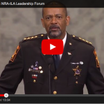 Sheriff David Clarke Agrees With Odd Obama Statement And The NRA Audience Bursts Into Applause