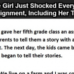 This Girl Was Asked To Share A Story With A Moral, Her Answer Shocked Everyone In Her Class Including Her Teacher