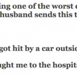 Hilarious : Man Gets In Serious Car Accident And Sends His Wife A Text, Her Reply Back Is Great